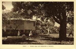 tahiti, PAPEETE, House under the Mango Trees (1930s) Mission Postcard