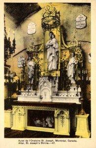 Canada Montreal St Joseph's Shrine Altar