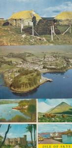 Potree From The Air  Isle Of Skye Harbour Thatched Croft 3x 1970s Postcard