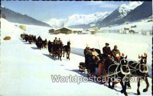 Davos Swizerland, Schweiz, Svizzera, Suisse Schlittenfahrt nach Spinabad Mons...