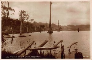 Ghana Gold Coast Lake Bosomtwi log fishing craft Postcard