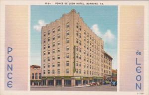 Virginia Roanoke Ponce De Leon Hotel