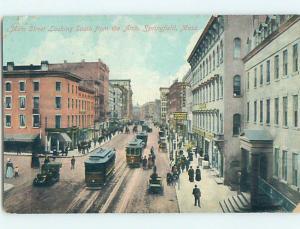 Divided Back STREET SCENE Springfield Massachusetts MA hs3870