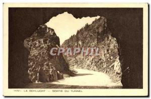 Old Postcard Schlucht Out From Tunnel