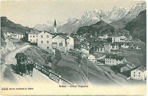 Ansichtskarten Schweiz VINTAGE POSTCARD: SWITZERLAND - ARDEZ