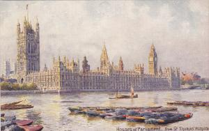 TUCK 7898; LONDON, England, 00-10s; Big Ben, House of Parliament from St. Thomas