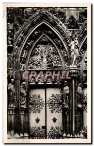 Old Postcard Thann Cathedrale St Thiebault Grand Portal Detail