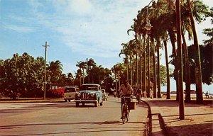 Barbados West Indies Post card Old Vintage Antique Postcard The Esplanade Bri...
