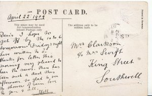 Genealogy Postcard - Family History - Clarkson - King Street - Southwell  Y879