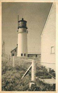 Massachusetts Highland Lighthouse #328 American Scene 1930s Postcard 21-7677