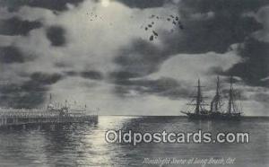 Long Beach, California, CA USA Sail Boat Postcard Post Card  Long Beach, Cali...