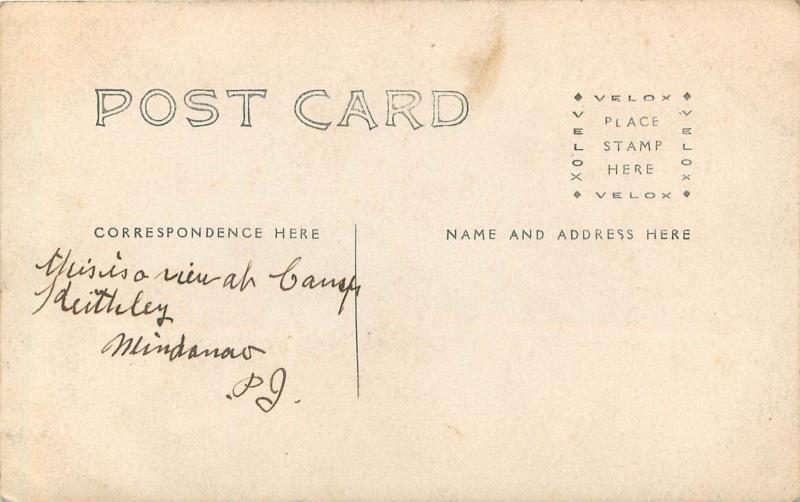 c1910 RPPC Postcard Camp Keithley, Mindanao, Lanao del Sur, Philippine Islands