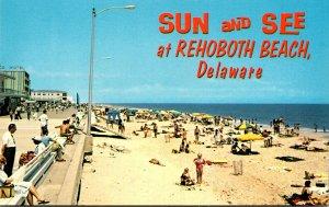 Delaware Rehoboth Beach Sun and See Beach Scene