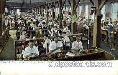 Tampa, Florida USA Interior, Model Cigar Factory, Smoking Postcard Postcards ...