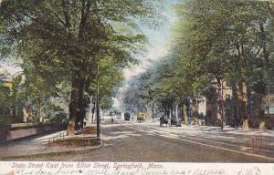 State Street East from Elliot Street, Springfield, Massachusetts, PU-1907