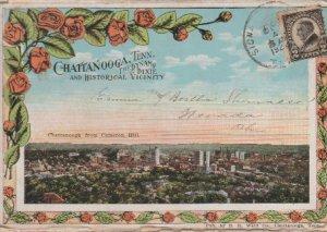 Chattanooga TN The Dynamo of Dixie Postcard Folder Postmarked 1923