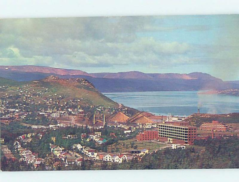 Unused Pre-1980 AERIAL VIEW OF TOWN Corner Brook Newfoundland NL F8485