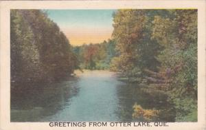 Canada Quebec Greetings From Otter Lake 1949