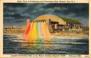 New Jersey Atlantic City Auditorium and Convention Hall At Night 1941