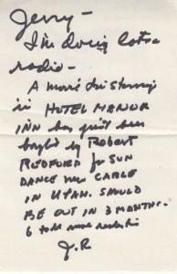 John Randolph King Kong Serpico Movie Small Letter To Fan Hand Signed Ephemera