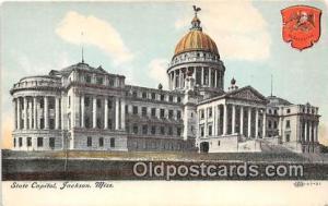 State Capitol Jackson, Miss, USA Postcard Post Card Jackson, Miss, USA State ...