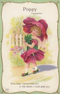 FLOWER GIRLS # 8, 1900-10s; Poppy, Consolation, Poem