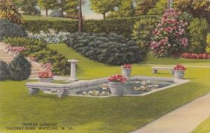 West Virginia Wheeling Sunken Gardens In Oglebay Park 1944