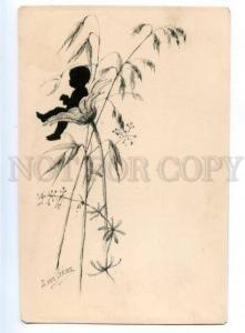 178179 Elizabeth BEM silhouette RARE vintage lithography