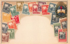 Argentina, Stamps on Early Embossed Postcard, Unused, Published by Ottmar Zieher