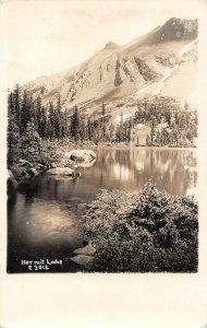 LPS08 White Mountains New Hampshire Hermit Lake Postcard RPPC