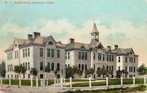 Vintage Postcard High School Pocatello ID Idaho Bannock County