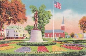 New Jersey Hackensack World War Monument