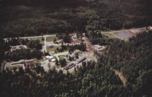 Aerial view, The Salvation Army, Miracle Valley Complex located on Stave Lake...