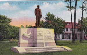 Statue Of Captain Joseph T Jones Gulfport Mississippi