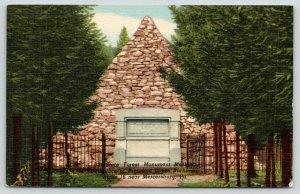 Mercersburg PA~State Forest Rock Pyramid Monument~President Buchanan~1955 Linen