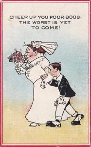 Humour Couple Getting Married Cheer Up You Poor Boob The Worst Is Yet To Come