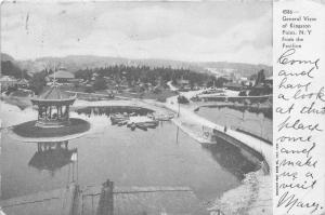 Kingston Point New York~Park Scene~Boats @ Dock~Gazebo on Island~c1905 Postcard