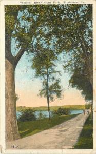 Harrisburg Pennsylvania~Long Path in Riverfront Park 1921