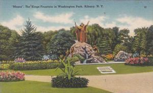 New York Albany Mosers The Kings Fountain In Washington Park