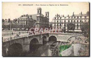 Postcard Besancon Old Bridge Casement and the Madeleine Church