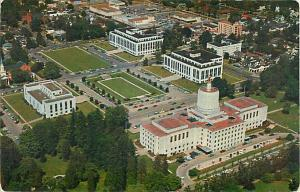 Air View of Oregon State Capitol & Office Buildings Salem OR