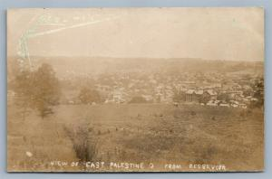 EAST PALESTINE OH 1910 ANTIQUE REAL PHOTO POSTCARD RPPC