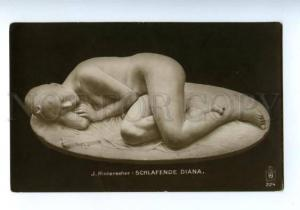 139614 Sleeping Diana NUDE NYMPH by HINTERSEHER vintage PC