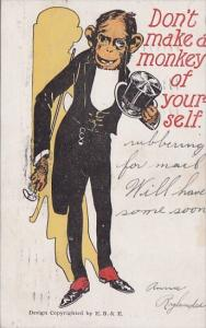 Humour Monkey In Tuxedo Don't Make A Monkey Of Yourself 1906
