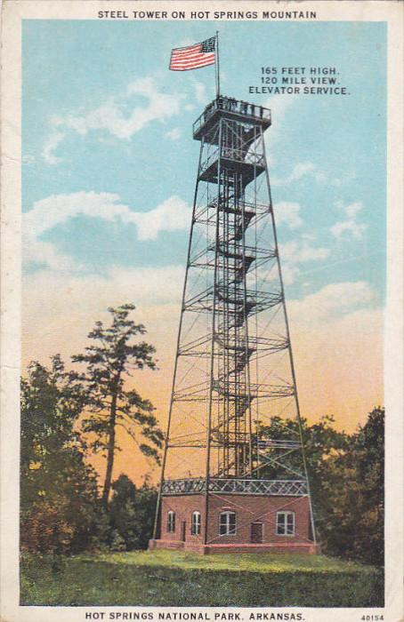 Steel Tower On Hot Springs Mountains, Hot Springs National Park, HOT SPRINGS,...