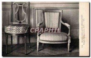 Old Postcard Musee des Arts Decoratifs Seats Louis XIV era