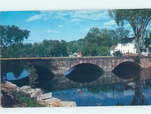 Unused Pre-1980 BRIDGE SCENE Rochester New Hampshire NH H7663