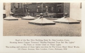 RP: NEW LONDON , Connecticut , 1910-20s ; Bee Hive Bldg Roof