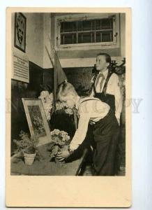 247318 Holocaust BUCHENWALD concentration camp photo postcard