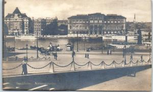 Stockholm, Sweden RPPC Real Photo Postcard Nationalmuseet Museum Street View